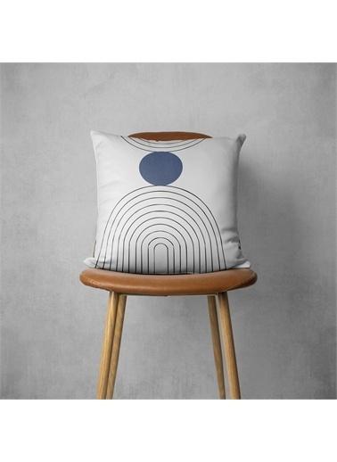 MarkaEv Pillow 424 Çizgi Desenli  Kırlent Kılıfı Renkli